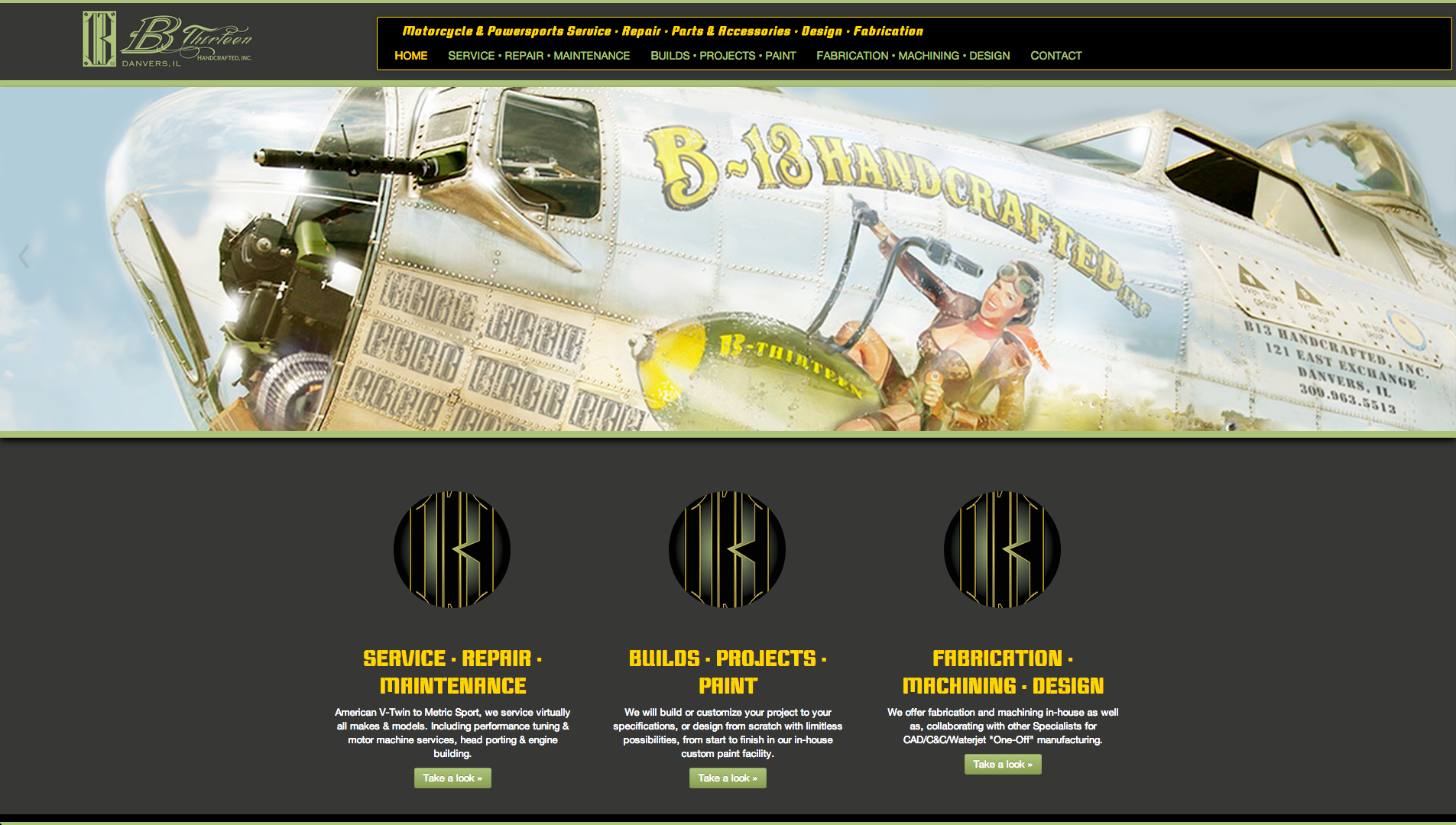 B13 Handcrafted Website